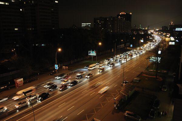 Пробка на Можайском шоссе