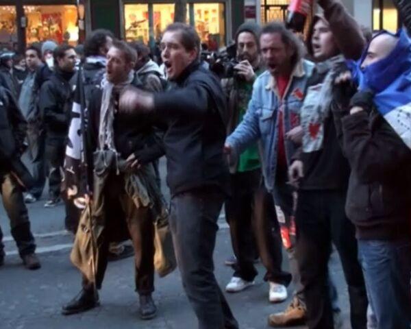 Протестующие в Париже считают, что в толпе были переодетые полицейские
