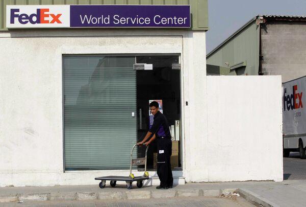 Склад компании FedEx в Дубае