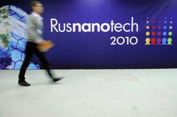 Выставка нанотехнологических проектов в рамках Международного форума по нанотехнологиям Rusnanotech 2010 в ЦВК Экспоцентр в Москве