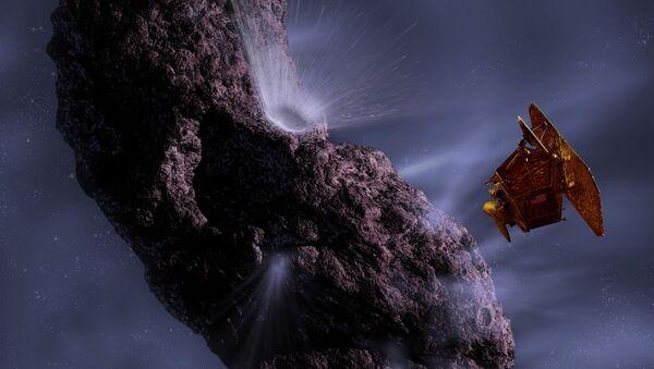 Зонд Дип Импакт прошел на расстоянии 700 км от ядра кометы Хартли-2