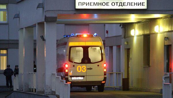 Приемное отделение городской клинической больницы № 36 в Москве, куда был доставлен журналист Олег Кашин