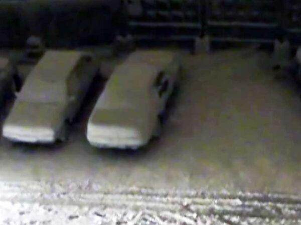 Снежный ураган обрушился на Челябинск