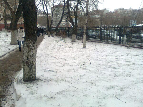 Первый снег во Владивостоке