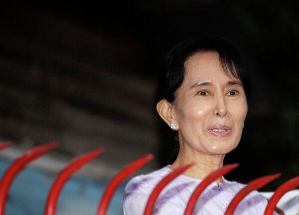 Лидер оппозиции Мьянмы Аун Сан Су Чжи