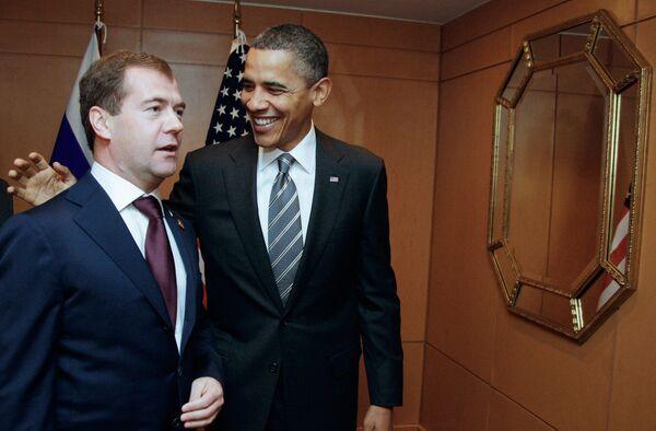 Встреча Дмитрия Медведева и Барака Обамы