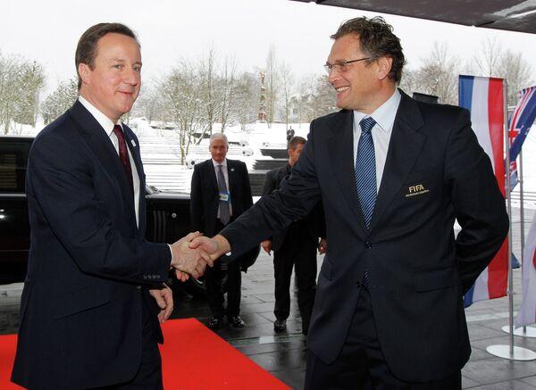 Дэвид Кэмерон и Джером Вальке (слева направо)