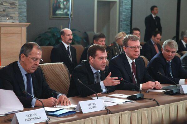 Президент РФ Д.Медведев и премьер-министр Италии С.Берлускони встретились в рамках российско-итальянских межгосконсультаций