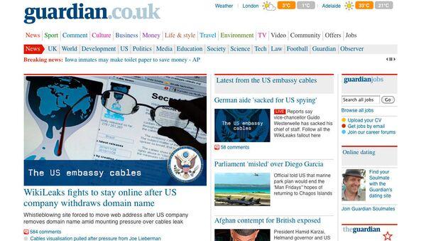 Скриншот страницы сайта Guardian