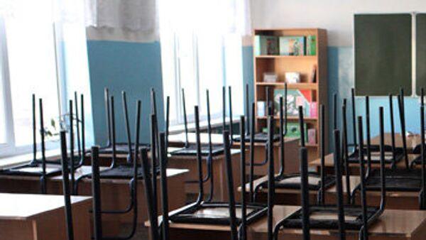 Пустой школьный класс. Архив