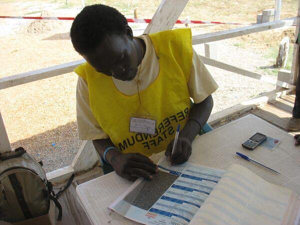 Регистрация участников будущего референдума об отделении Южного Судана