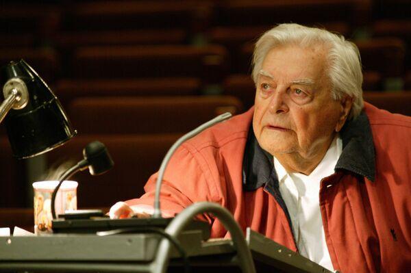 Ю. Любимов на репетиции в Театре на Таганке