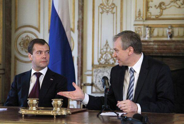 Заявления для прессы Дмитрия Медведева и Ива Летерма