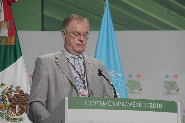 Александр Бедрицкий во время выступления в Канкуне