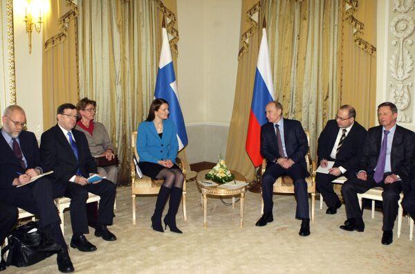 Встреча премьер-министров России и Финляндии