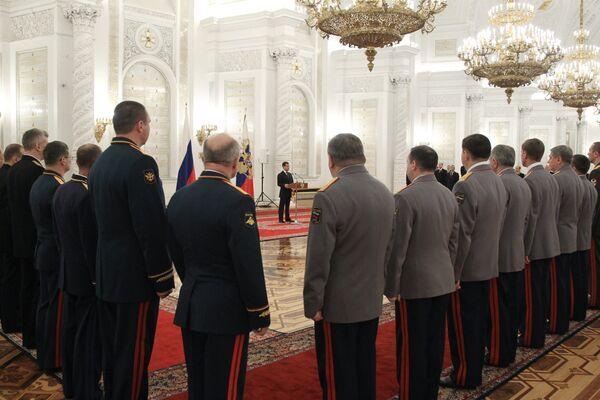Дмитрий Медведев провел встречу с высшими офицерами в Кремле