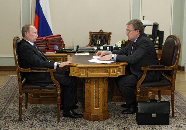 Премьер-министр РФ встретился с министром финансов РФ
