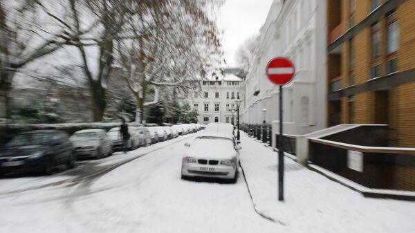 Белая зима в Лондоне