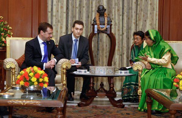 Встреча Дмитрия Медведева с Пратибхой Патил