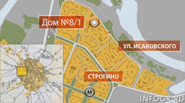 Дом № 8 корп. 1 по улице Исаковского в городе Москве