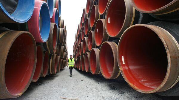 Cтроительство газопровода Северный поток. Архивное фото