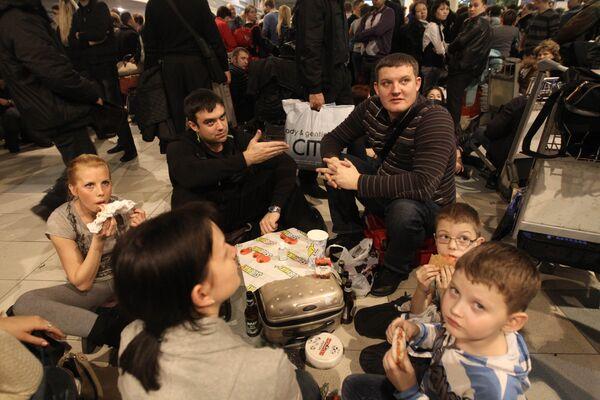 Задержка авиарейсов в московских аэропортах