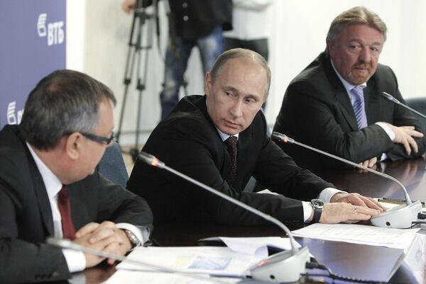 Премьер-министр РФ Владимир Путин провел совещание с руководством ОАО Банк ВТБ