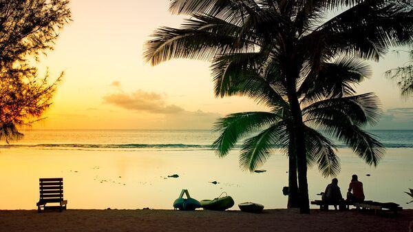 Закат на островах Кука