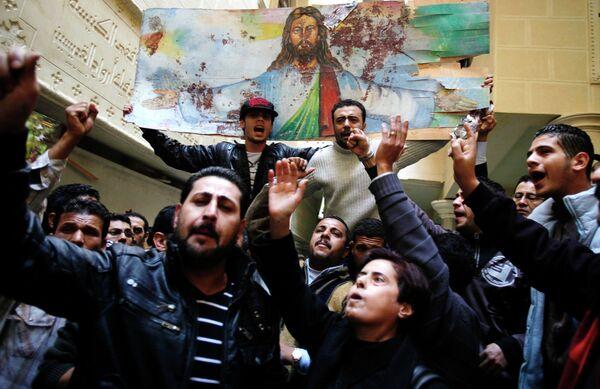 Взрыв в церкви в Александрии