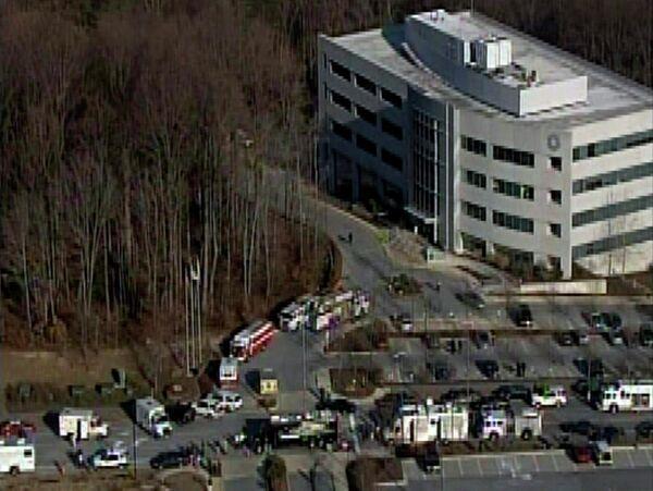 Взрыв бомбы в госучреждении в штате Мэриленд, США