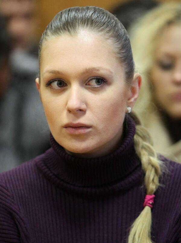 Журналистка телеканала Russia Today Наталья Архипцева в зале Таганского суда Москвы. Архив