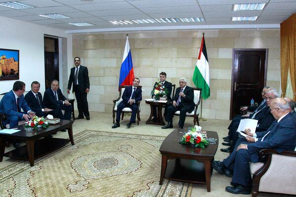 Встреча Дмитрия Медведева и Махмуда Аббаса