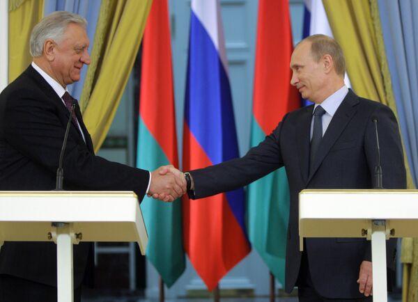 Пресс-конференция премьер-министров России и Белоруссии