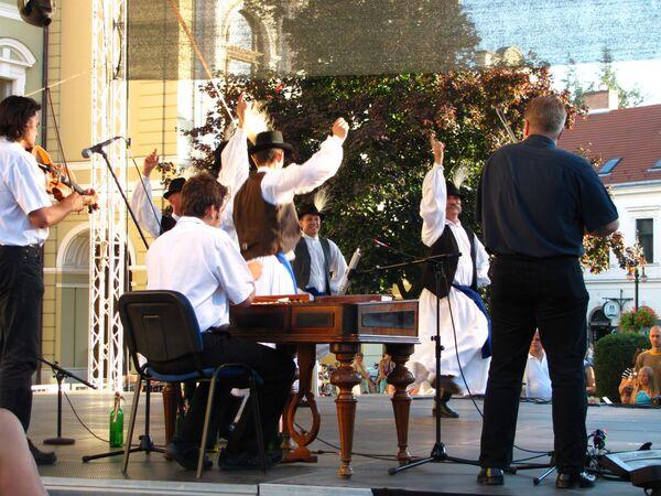 Венгерские исполнители в городе Эгер
