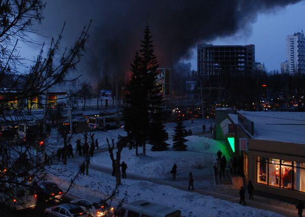 Пожар в ТЦ Европа в Уфе