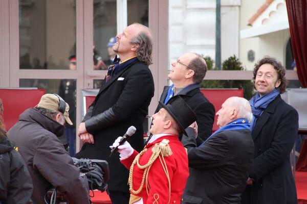 Князь Монако Альбер Второй на представлении в честь 35-летия фестиваля