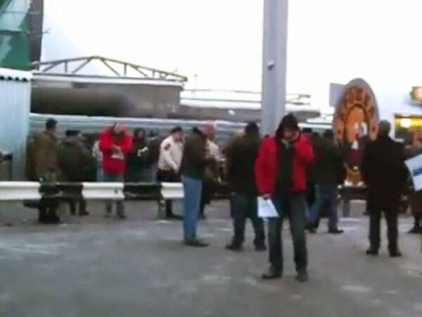 Первые минуты после взрыва у выхода из Домодедово