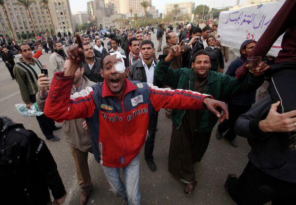 Акция массового протеста в столице Египта 1 февраля 2011 г.