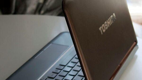 Ноутбук Toshiba. Архивное фото