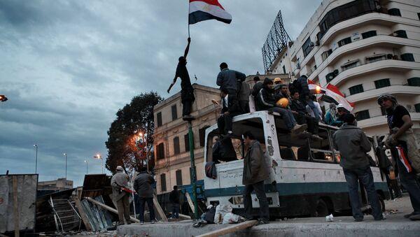 Площадь Тахрир в Каире. Февраль 2011 года