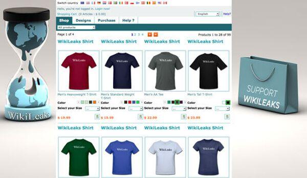 Онлайн-магазин сувенирной продукции WikiLeaks