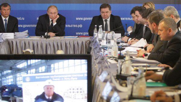 Премьер-министр РФ В.Путин провел совещание о результатах работы ТЭК в 2010 году
