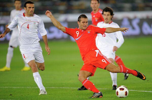 Игровой момент матча сборных Ирана и России