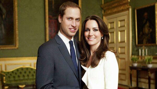 Британский принц Уильям и его невеста Кейт Миддлтон