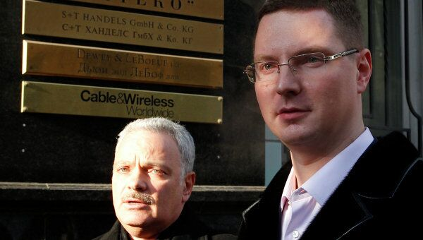Адвокат ЗАО Интеко Александр Аснис и глава пресс-службы ЗАО Интеко Геннадий Теребков (слева направо)