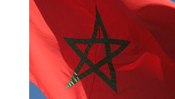 Флаг Марокко, архивное фото