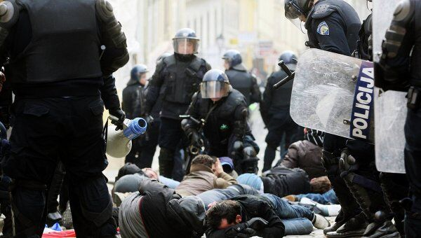 Акция протеста в Хорватии