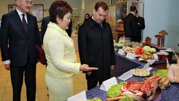 Президент РФ Дмитрий Медведев посетил комплекс Город шахмат