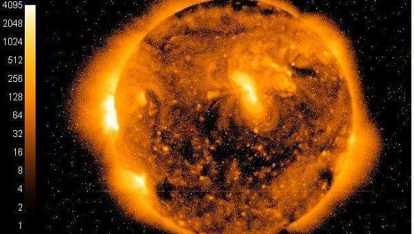 Рентгеновское изображение Солнца со спутника GOES-15