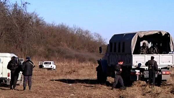 На месте убийства охотников в КБР